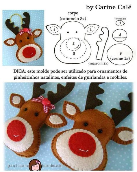 christmas craft stuffed reindeer holiday gift ideas