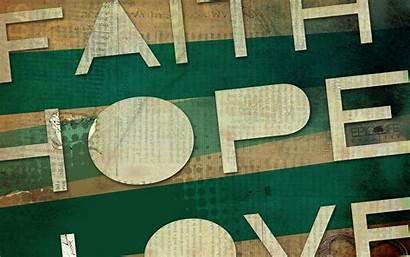 Faith Hope Desktop Hoffnung Wallpapers Glaube Liebe