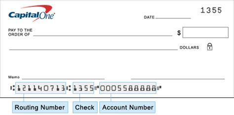 capital  credit card account number  routing