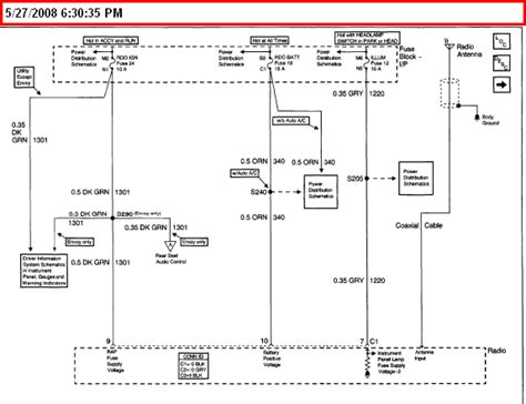2001 Chevy S10 Wiring Diagram 2001 chevy s10 stereo wiring diagram