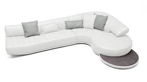 canapé courbe canapé d 39 angle en cuir avec tablette whistle mobilier moss