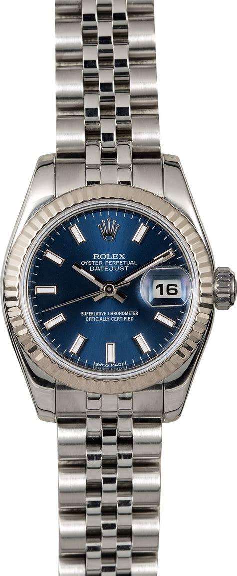 Lady Rolex Datejust 179174 Blue Dial