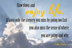 Quotes About Slowing Down. QuotesGram