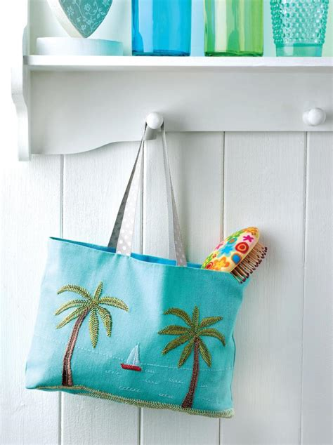 embroidered beach bag  sewing patterns sew magazine