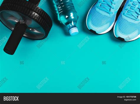 Fitness Background Fitness Background Made Sneakers Image Photo Bigstock