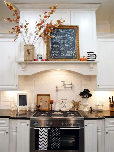 range hood christmas decorating ideas decorating for the seasons in julie s white kitchen home decor fall kitchen decor kitchen
