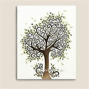 Whimsical Tree Art Print Nature Wall Decor Fantasy
