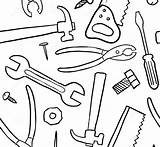 Tools Construction Coloring Tool Printable Pages Belt Drawing Getdrawings sketch template