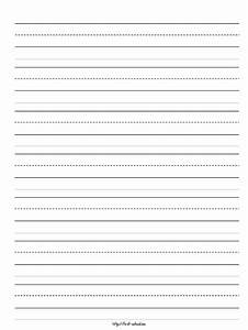 handwriting worksheet for kindergarten blank handwriting With learning to write paper template