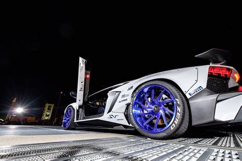 lamborghini aventador sv  liberty walk widebody