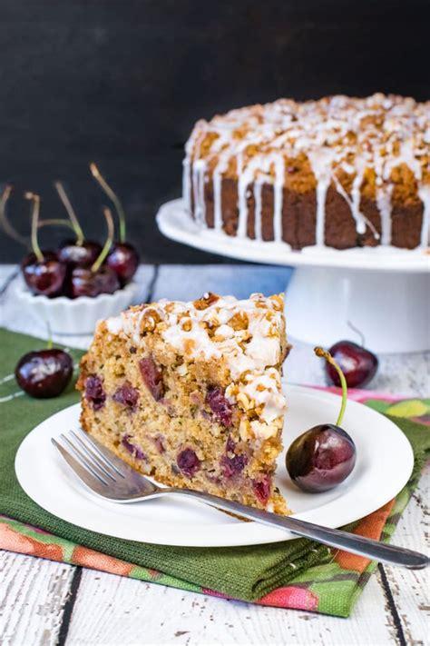 Actually, i think its brilliant. Cherry Zucchini Coffee Cake Recipe - Food Fanatic