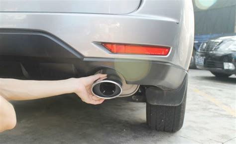 stainless rear exhaust muffler tip end pipe 2pcs for subaru forester 2009 2012 ebay