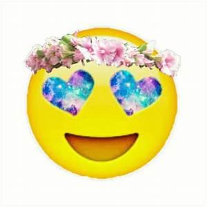 """""""Flower Crown Galaxy Eyes Emoji"""" Art Prints by Lucie Duah"""