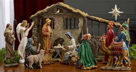 christmas mangers for sale collectibles nativity sets gifts 9 quot holy family