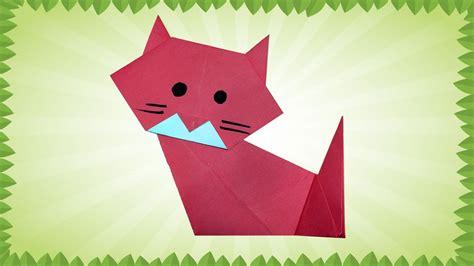 easy origami cat instructions diy     origami