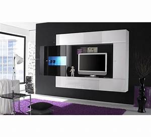 meuble tele laque blanc 3167 With meuble de tv moderne