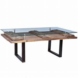 Table Basse Ancienne : table basse indienne ancienne porte en bois 124cm plateau ~ Dallasstarsshop.com Idées de Décoration