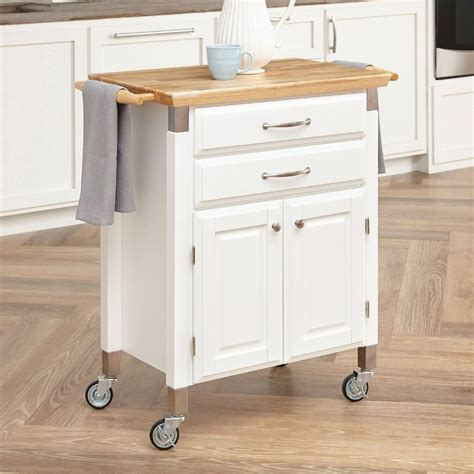 white kitchen cart island shop home styles white scandinavian kitchen carts at lowes