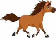 Cute White Pony Horse Cartoon Running Stock Vector ...