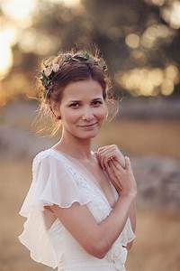 15 Hairstyles With Flower Crowns For Wedding Pretty Designs