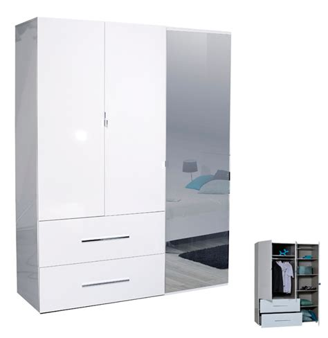 armoir chambre pas cher armoire pas cher 3 portes avec miroire et tiroires