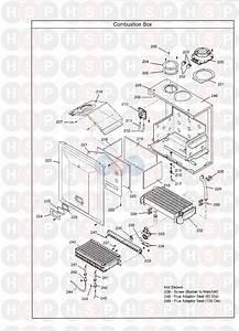 Main Combi 24 He  Combustion Box  Diagram