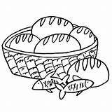 Bread Fish Basket Coloring Pages Drawing Wheat Loaves Slice Clip Loaf Little Outline Wreath Printable Primal Kyogre Getdrawings Print Pizza sketch template