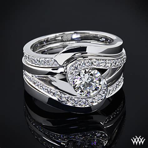 custom contoured diamond wedding rings pricescope