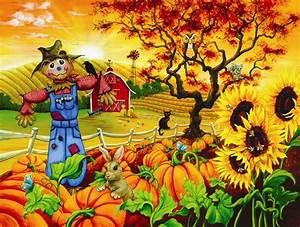 Fall Scenes With Pumpkins Clip, Fall, Free Engine Image ...