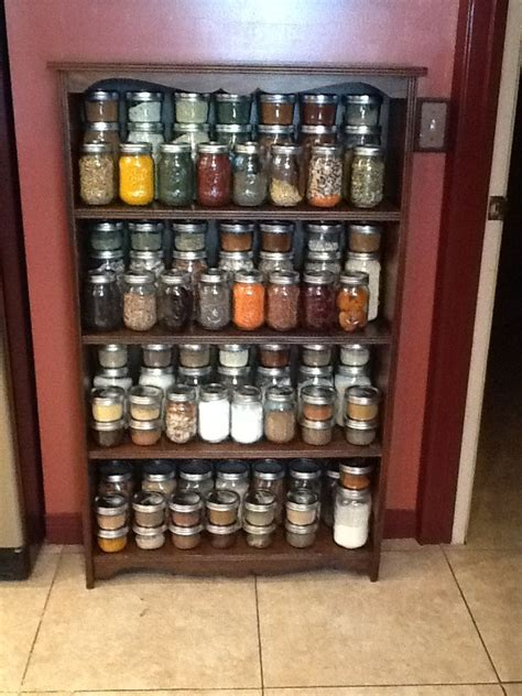 Jar Rack by Jar More Than A Spice Rack I Re Purposed A Shallow