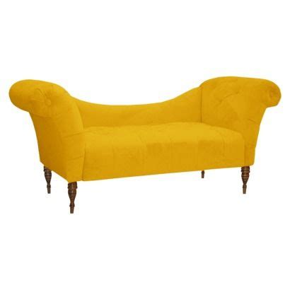 Chaise Settee by Button Tufted Chaise Settee Velvet Canary For The