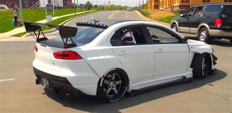 modified mitsubishi lancer modified mitsubishi lancer evo x panda junction video
