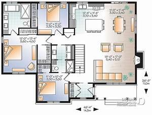 plan de maison unifamiliale bradley 3 w3147 v3 dessins With attractive plan maison en l 100m2 0 maison familale detail du plan de maison familale