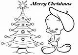 Coloring Christmas Pages Tweety Bird Cartoon Merry Cards Printable Drawing Clipart Cartoons Disney Tree Cliparts Colouring Card Xmas Baby Clip sketch template