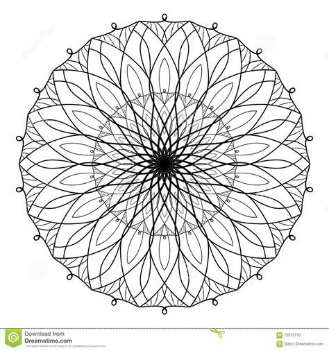 Coloring Vector by Vector Antistress Coloring Book With Geometric Mandala