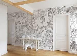 Papier Peint Noir Et Doré : papier peint original d cor mural en dition limit e ohmywall papier peint jungle tropical ~ Melissatoandfro.com Idées de Décoration