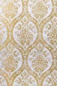 Cordoba Damask #wallpaper in #metallic #gold and #silver ...