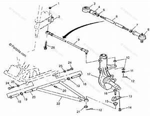 Polaris Atv 1998 Oem Parts Diagram For Aarm  Strut Mounting Trail Blazer