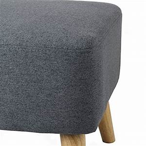 Repose Pied Scandinave : pouf repose pieds design scandinave lupio gris fonc ~ Melissatoandfro.com Idées de Décoration