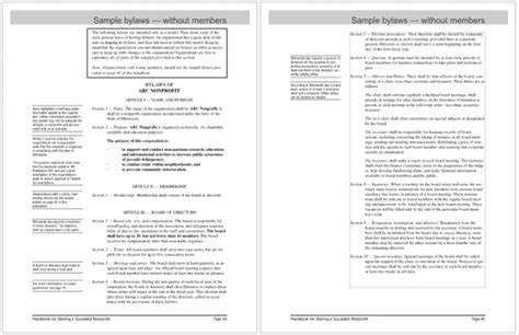 bylaws templates    write bylaws