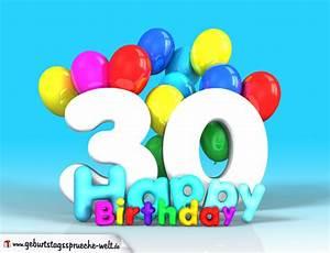 30 Dinge Zum 30 Geburtstag : 30 geburtstag bild happy birthday mit ballons ~ Sanjose-hotels-ca.com Haus und Dekorationen