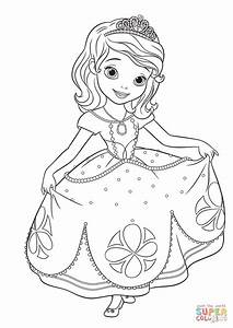 sofia the princess coloring pages - princess sofia curtseying coloring page free printable