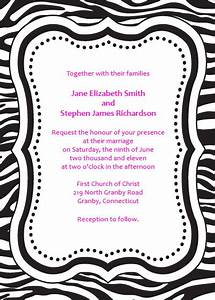 zebra print free invitation template wedding invitation With leopard print invitations templates