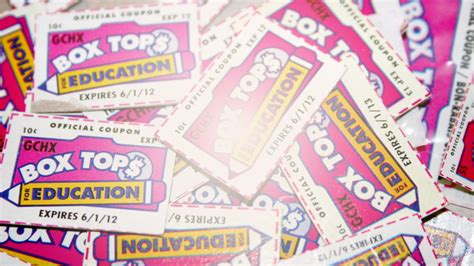 Collect Box Tops For Education, Please