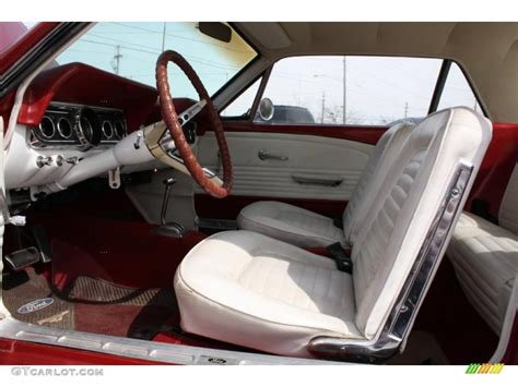 Parchment Interior 1966 Ford Mustang Coupe Photo #46893008