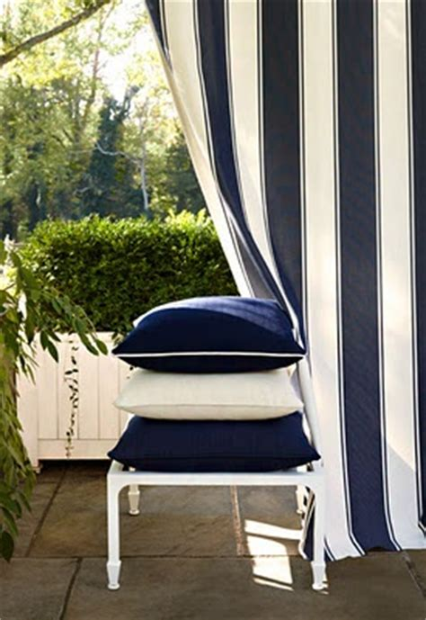 blue and white striped outdoor panels feeling nautical