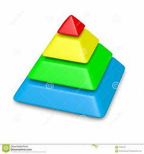 Colorful Pyramid 4 Levels Stack Stock Illustration ...