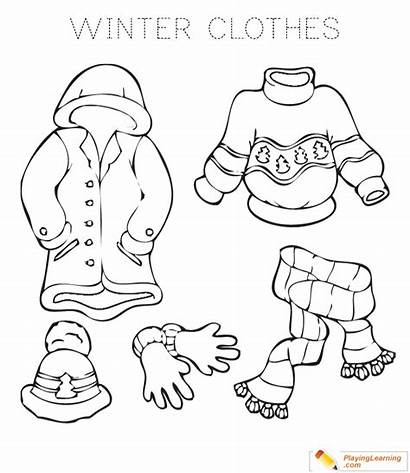 Coloring Clothes Winter Warm Learning Sheet Sweater