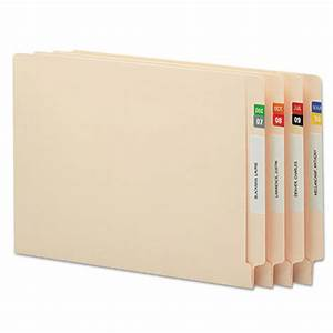 monthly end tab file folder labels assorted colors 250 With file folder tab labels