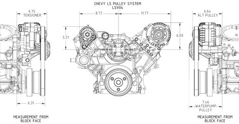 concept  gm ls engine pulley kits serpentine  ac